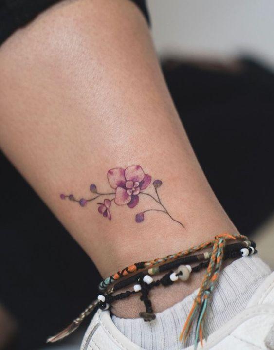 tatouage orchidée